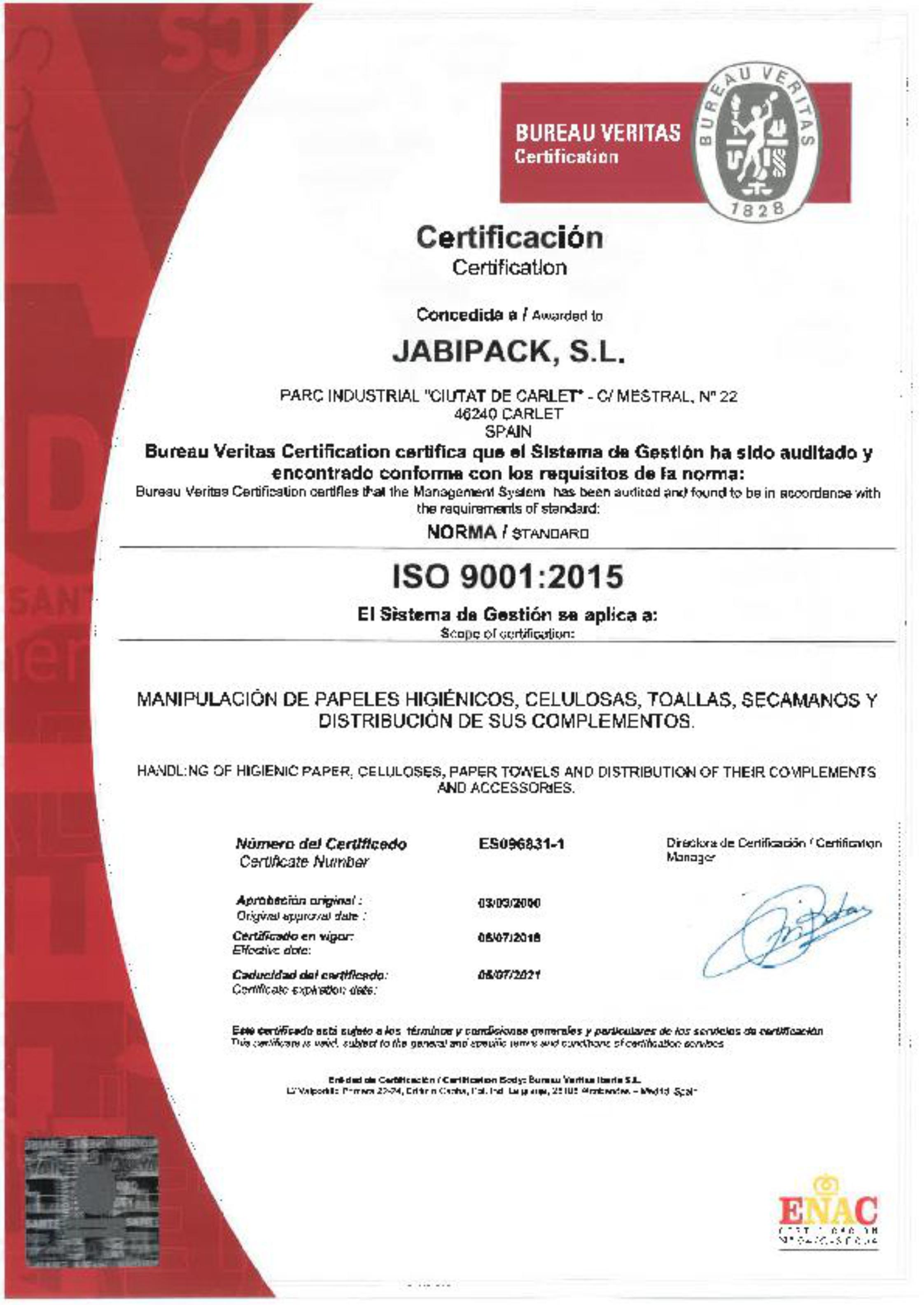Jabipack ISO 2018 - 2021